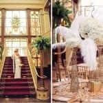 great gatsby style wedding decor