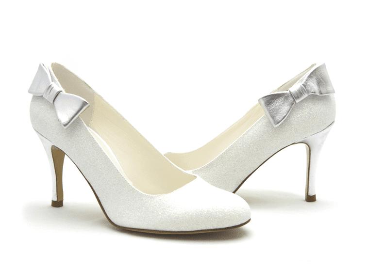White Wedding Shoe