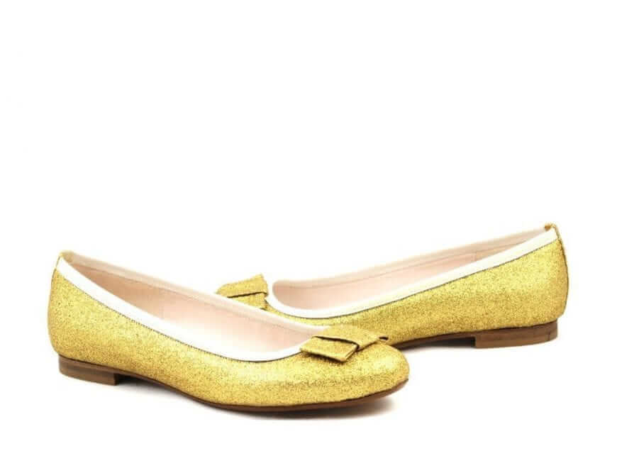 Gold Ballerina Statement Wedding Shoe
