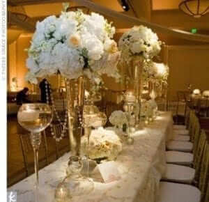 Pearl and Crystal Centrepieces