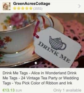 Tea Cup Labels