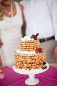 Waffle Wedding Cake