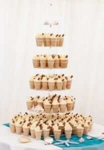 Ice Cream Cone Wedding Cake