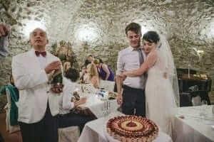 Italian Flan Wedding Cake