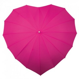 pink wedding umbrella