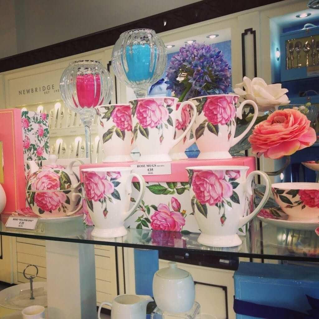 Newbridge Rose Collection Cups