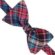 Thomas Pink Allington Check 'Self Tie' Bow Tie