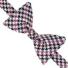 Thomas Pink Purcell Check 'Self Tie' Bow Tie