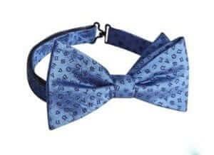 Hammond & Co by Patrick Grant Designer Blue Astrology Sign Silk Bow Tie