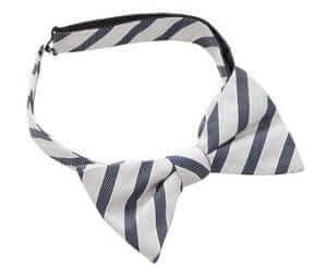 Hammond & Co by Patrick Grant Pale Blue STriped Bow Tie