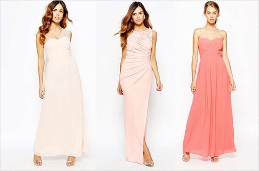 Pastel Bridesmaids Dresses Asos Irish Wedding Blog