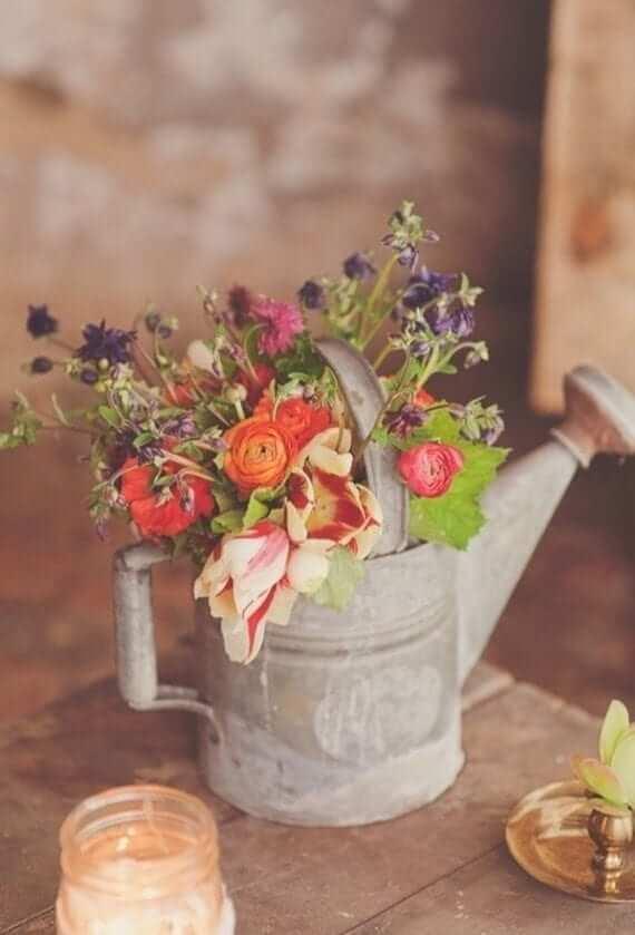 wedding centrepieces - tea pot