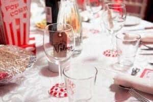 wedding favours wine glasses