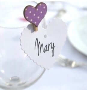 wedding favours name pegs
