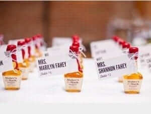 Makers Mark Wedding Favours