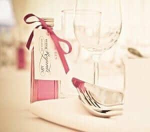 Pink Gin Wedding Favours
