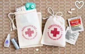 wedding favour hangover kits