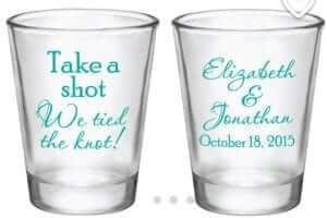 wedding favour shot glasses