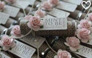 mint wedding favours