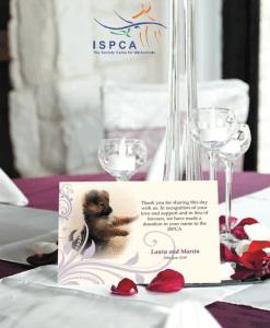 ISPCA Wedding Favours