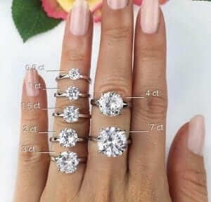 Diamond ring carats