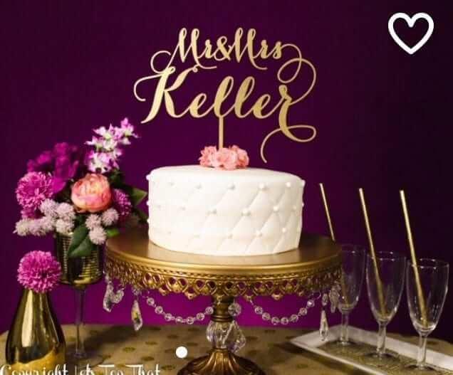 etsy cake topper