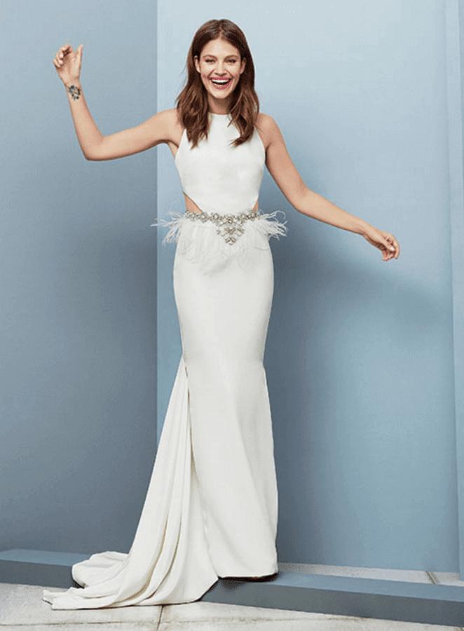 cut out wedding dress