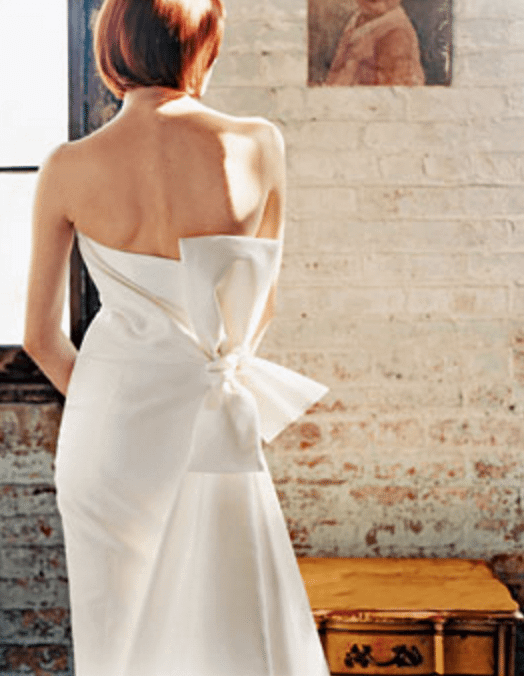 carioline hererra bow wedding dress