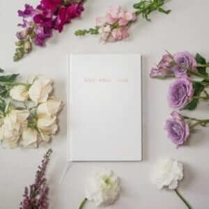 A1 - large - little white book wedding organiser diary
