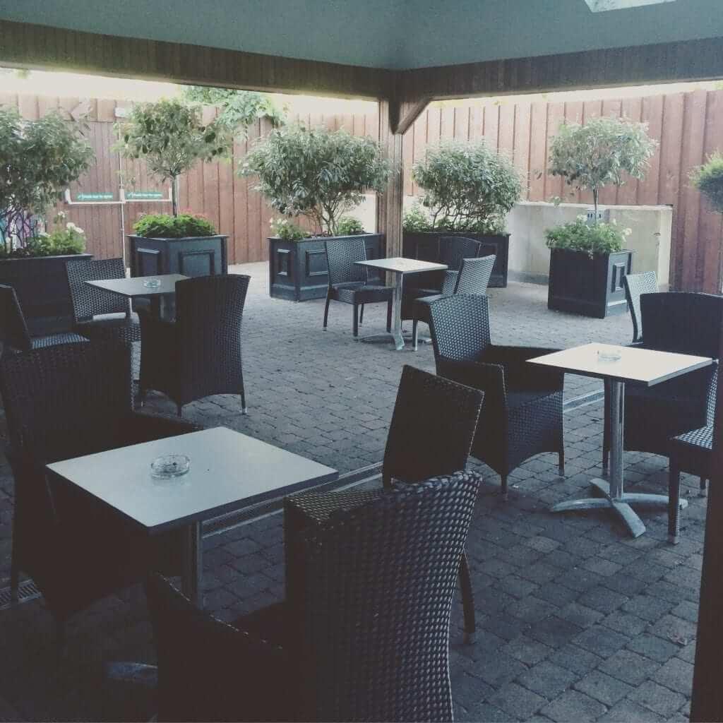 Outdoor reception area
