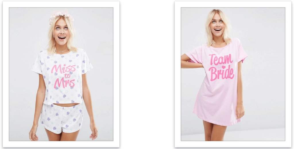 asos bridal pyjamas