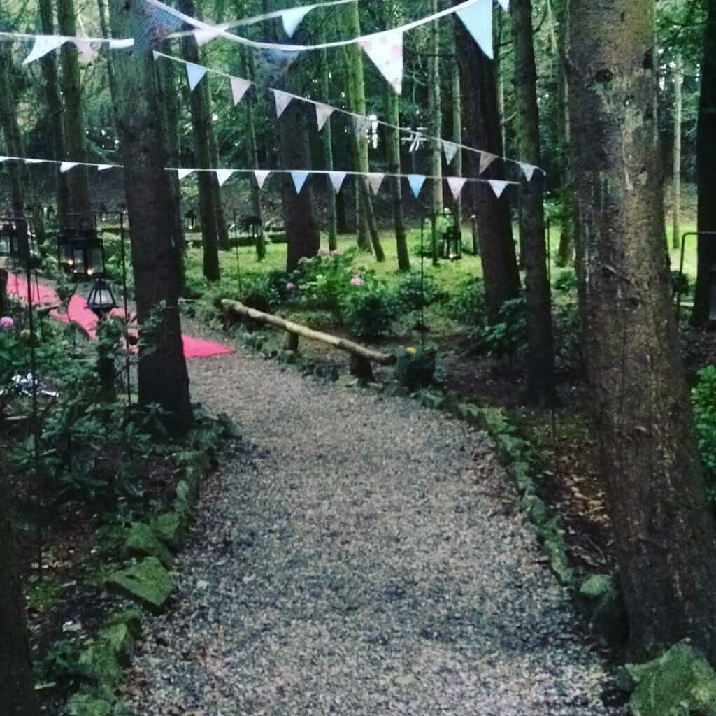 Walkway to Turn Table for Civil Ceremony