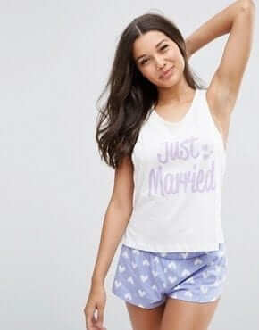 asos bridal pyjamas