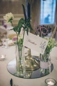 lavender and lace themed wedding