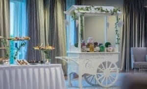 Drinks Reception with Candy Cart