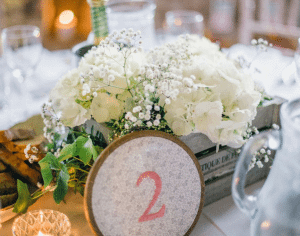 secret garden centrepieces