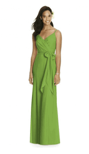 dessy greenery bridesmaid dress