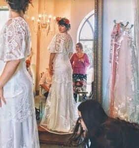 Claire Pettibone new york bridal fashion week