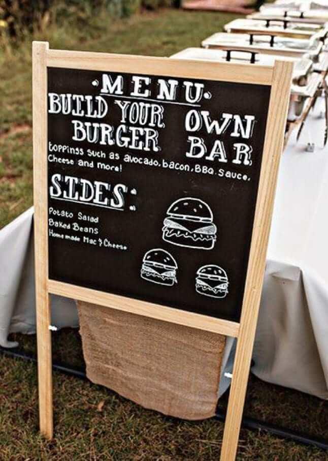 Wedding Ideas & Inspiration (Pinterest)  - Build Your Burger Station