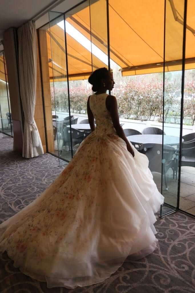 lazaro floral wedding dress