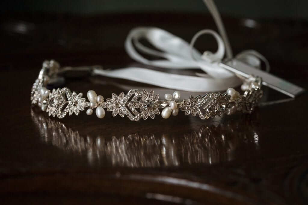 alan hannah bridal tiara head band