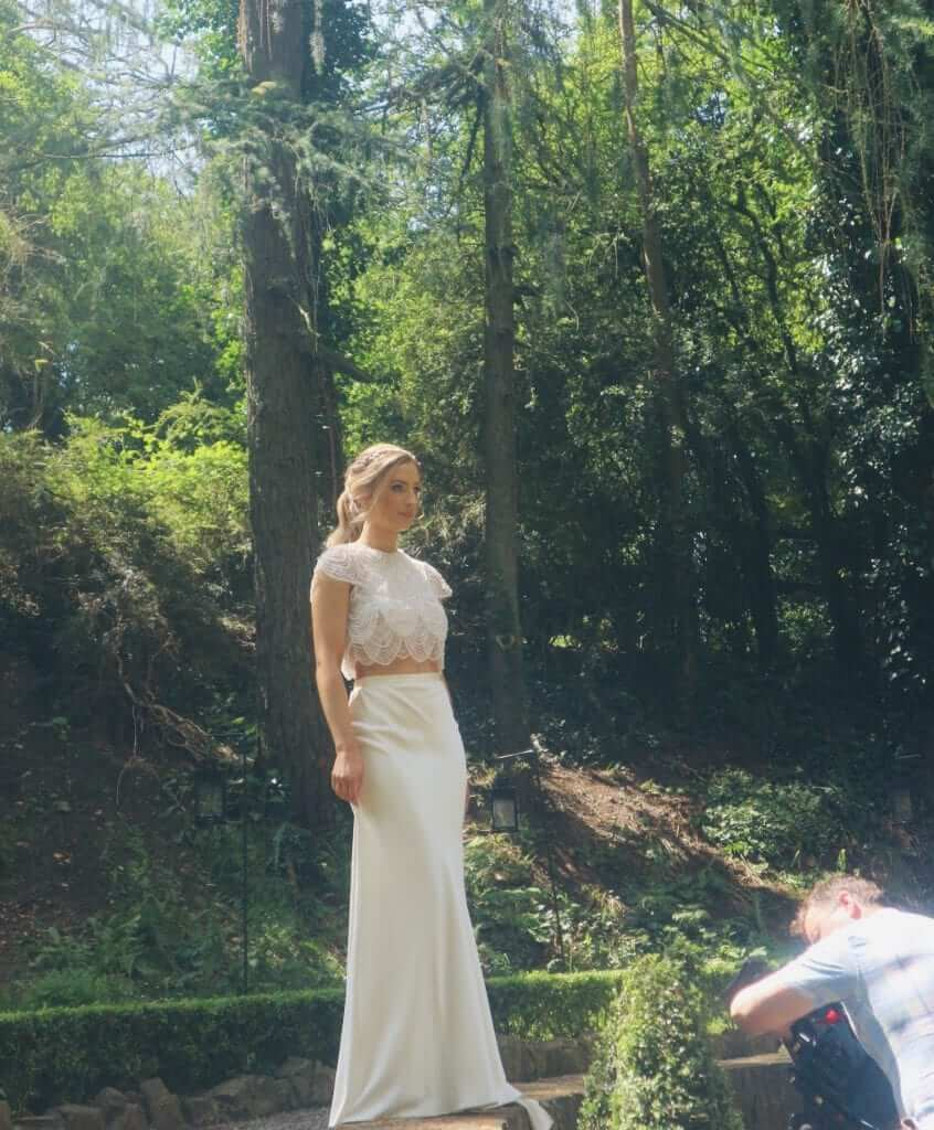 catherine deane 2 piece wedding dress
