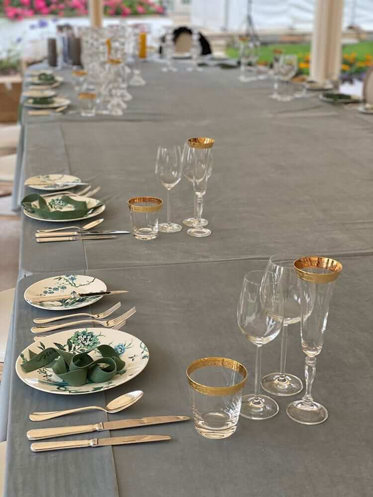 Social Distanced Wedding Table Setting