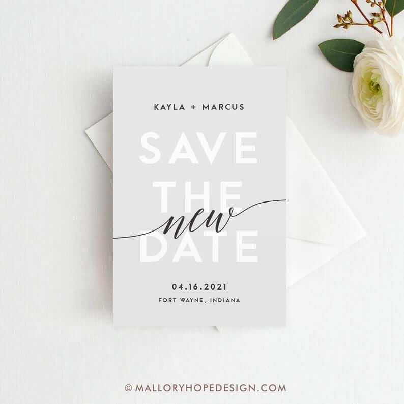 Save the new date invitation