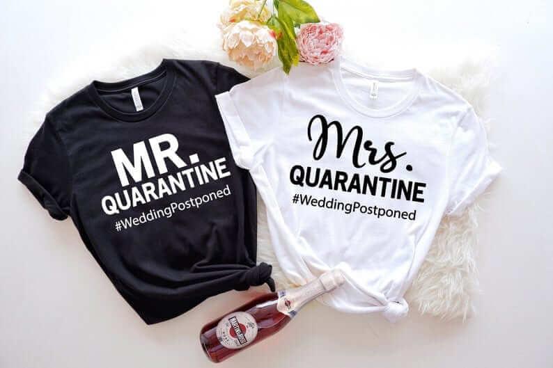 Couples postponed wedding tshirts