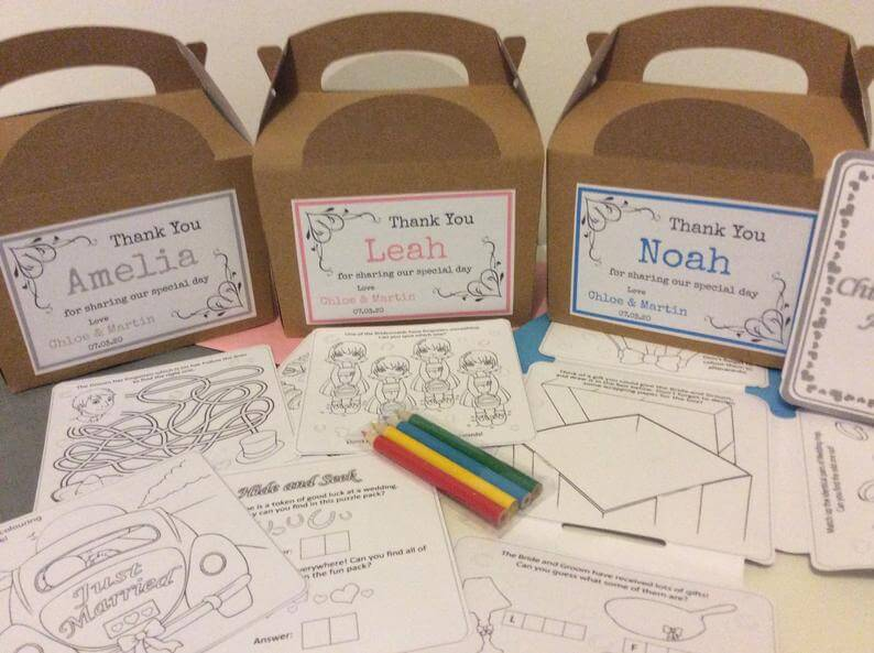 kids wedding packs