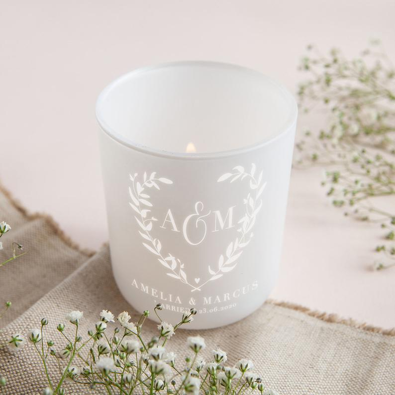 etsy wedding candle