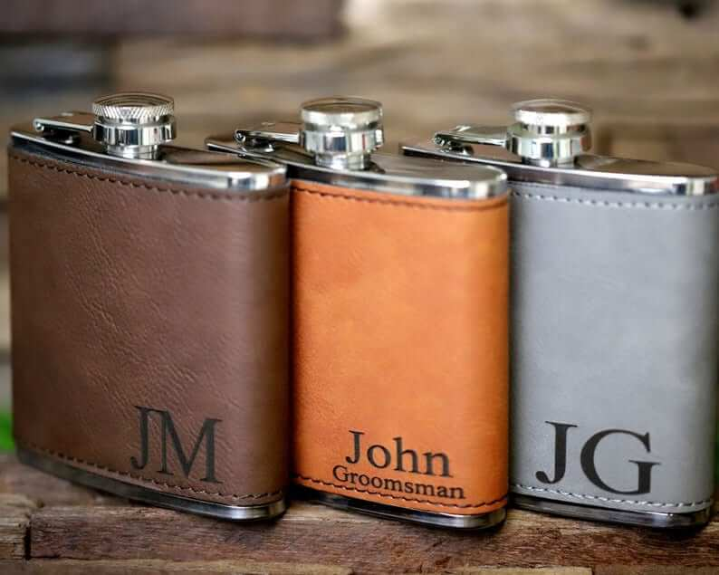 groom hipflask gifts